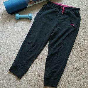 Puma crop sweat pants